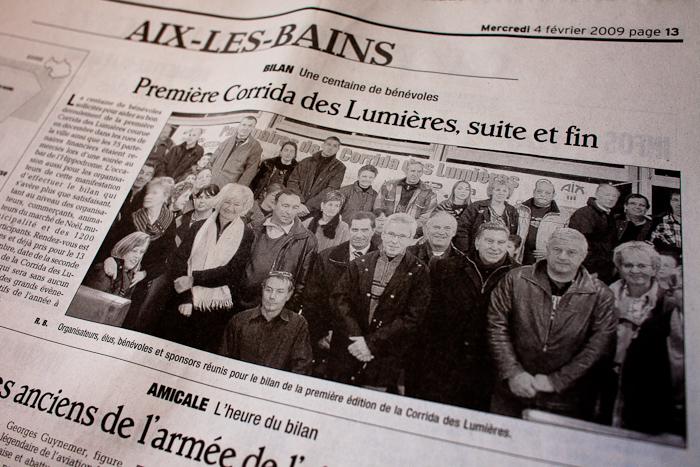 Extrait du Dauphiné Libéré du 4 février 2009