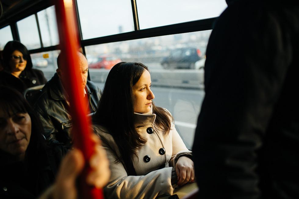 Dans un bus à Belgrade, Serbie, le 31 décembre 2013.
