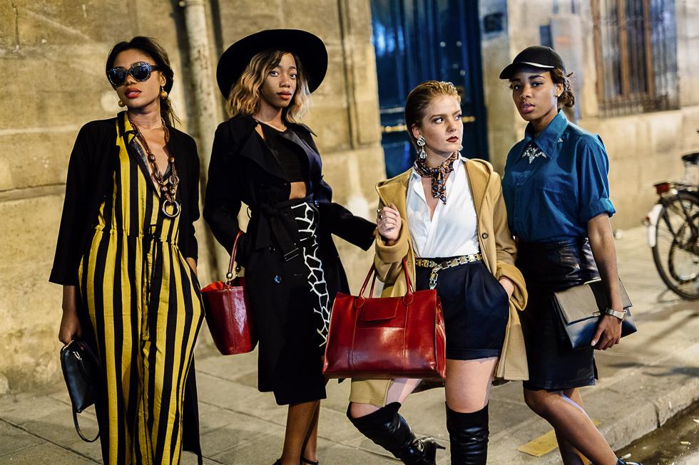Ambiance Rue Saint Honoré lors de la Vogue Fashion Night 2014 à Paris le mardi 16 septembre.